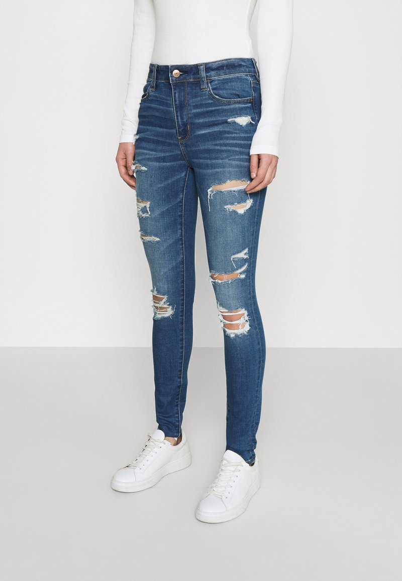 American Eagle - CURVY JEGGING - Jeans slim fit - sky blue