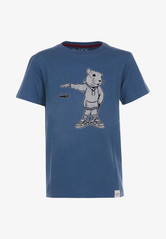 MIC DROP - T-shirt med print - blue