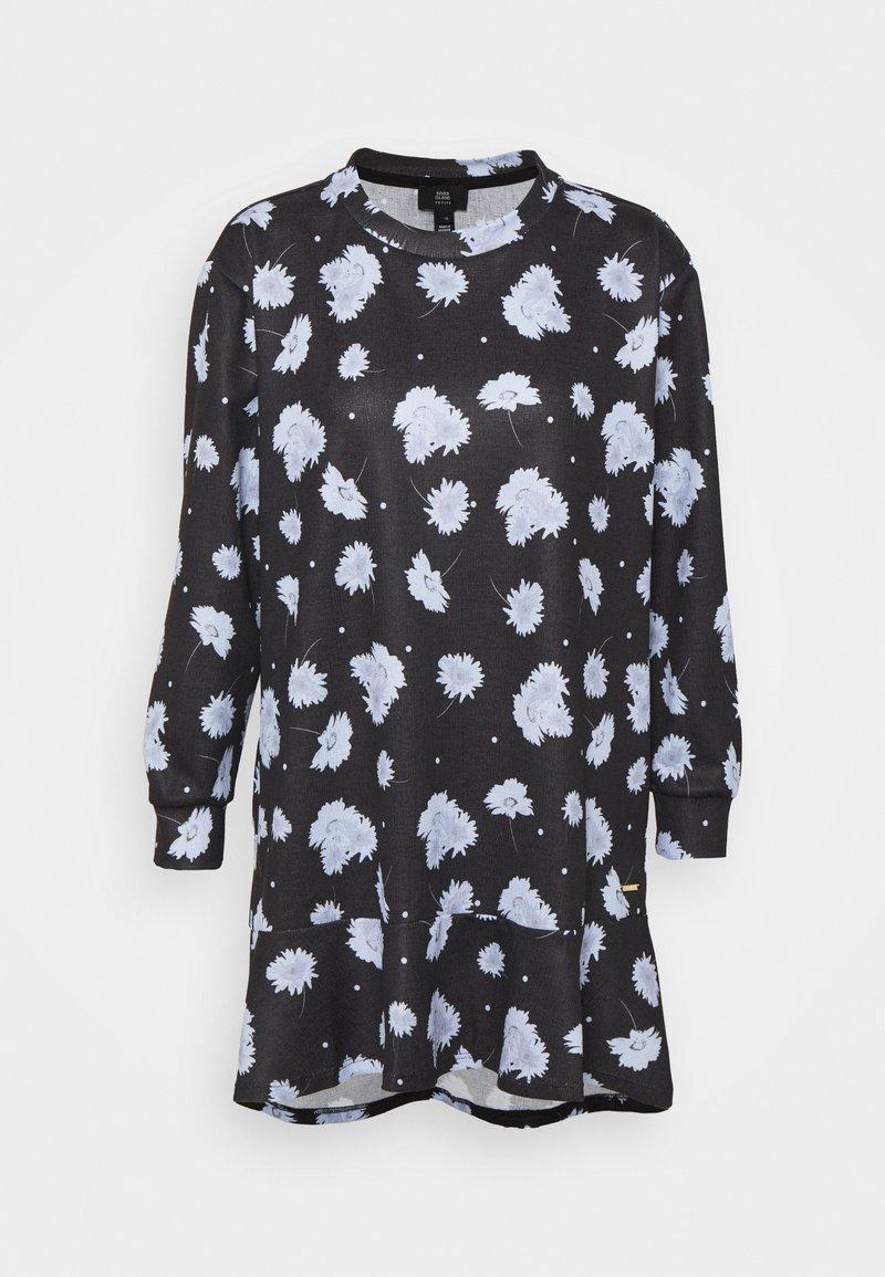 River Island Petite - Žerzejové šaty - black