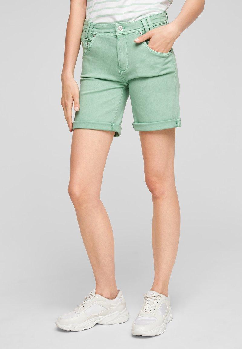 s.Oliver - Denim shorts - turquoise