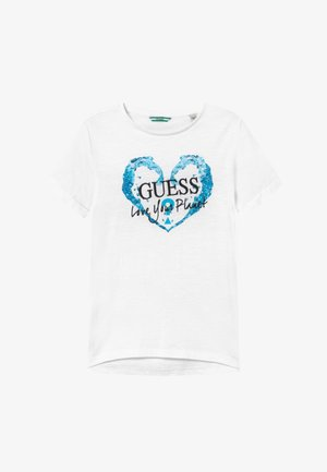 JUNIOR ORGANIC SLUB - T-shirt con stampa - true white