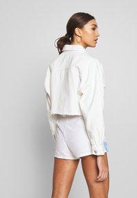 Missguided - CROPPED RAW JACKET  - Denim jacket - white - 2