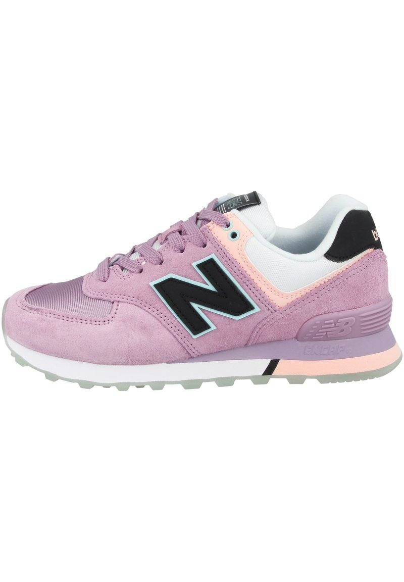 New Balance - Sneakersy niskie - canyon violet-peach soda-black (wl574saw)