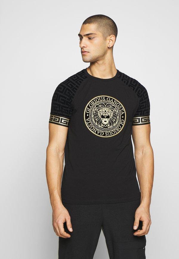 Glorious Gangsta NAPOLI - T-shirt z nadrukiem - black/czarny Odzież Męska ODUG