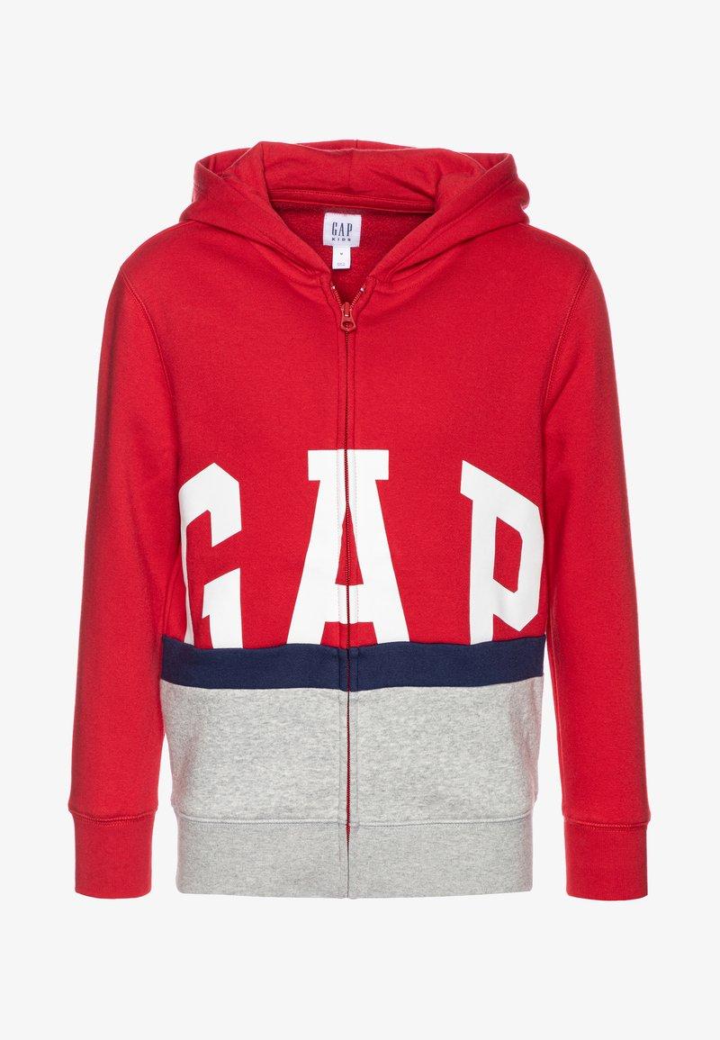GAP - BOY LOGO - Mikina na zip - modern red