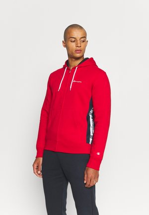 HOODED FULL ZIP SUIT - Tracksuit - red