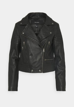 VMSHILA SHORT JACKET - Veste en cuir - black