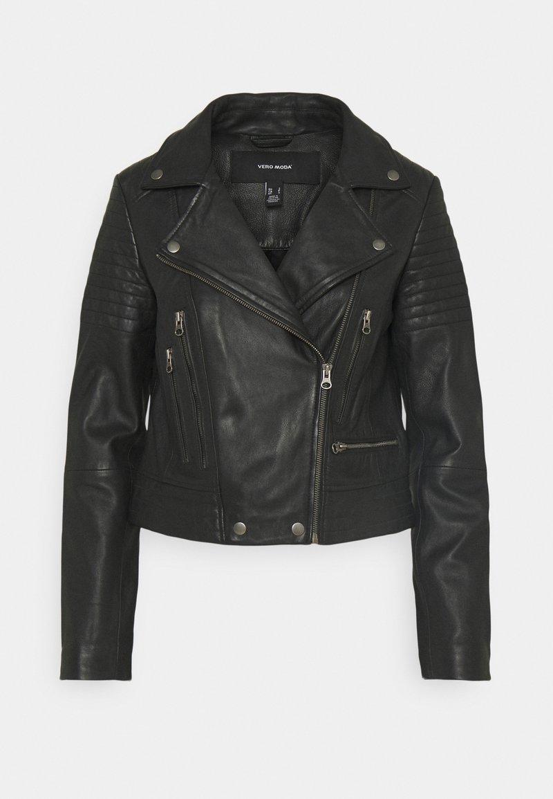 Vero Moda - VMSHILA SHORT JACKET - Læderjakker - black