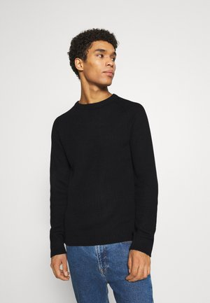 JJPANNEL CREW NECK - Sweter - black