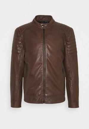 DERRY - Leather jacket - bison