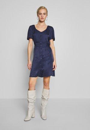 AUDREY PLAIN HERRINGBONE - Denní šaty - peacoat