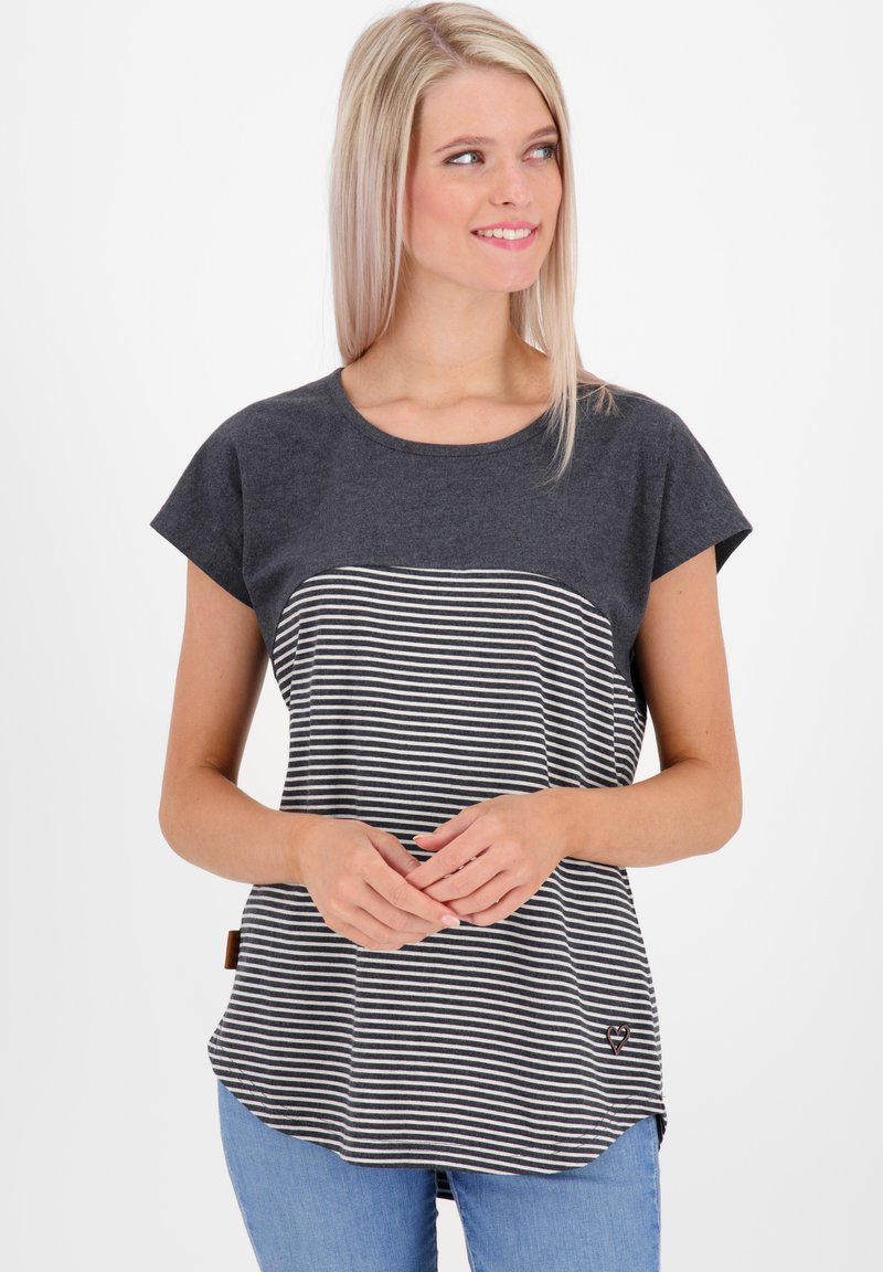 alife & kickin - CLAIREAK - Print T-shirt - marine
