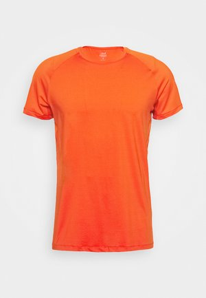 STRUCTURED TEE - T-paita - intense orange