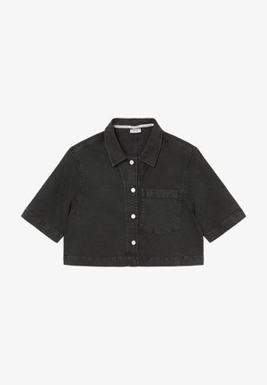 Button-down blouse - multi/washed black