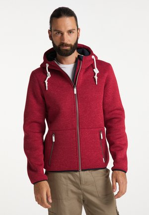 Fleece jacket - rot melange