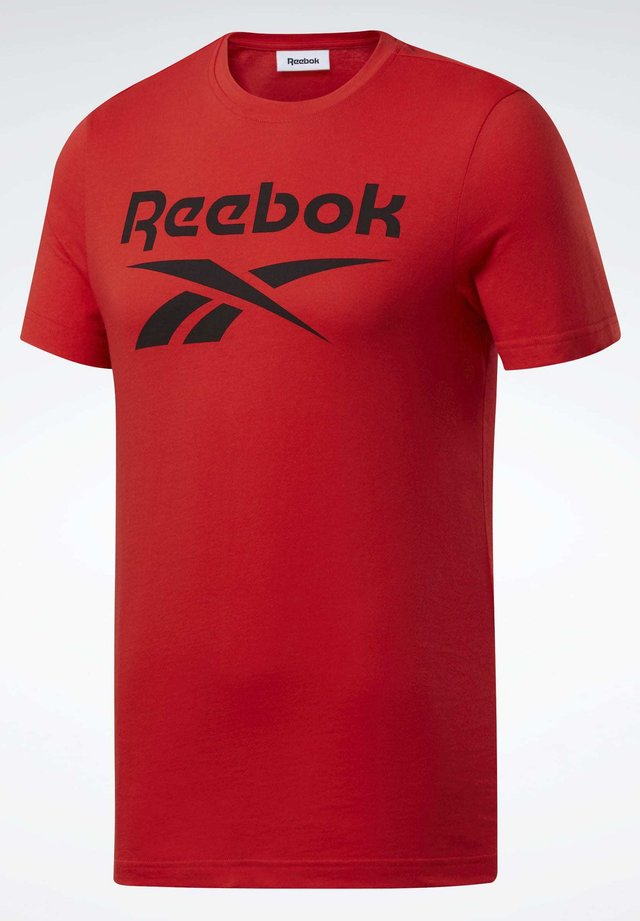 GRAPHIC SERIES REEBOK STACKED TEE - Print T-shirt - red