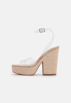 JINA - Platform sandals - clear