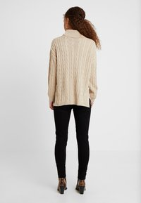 Missguided Petite - CABLE ROLL NECK JUMPER - Pullover - stone - 2