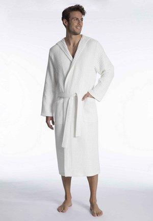 MIT KAPUZE - Dressing gown - white