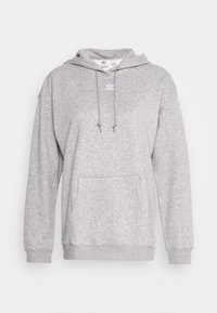 adidas Originals - TREFOIL ESSENTIALS HOODED - Mikina s kapucí - medium grey heather