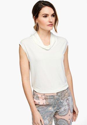 MIT KRAGENBLENDE - T-shirt imprimé - white