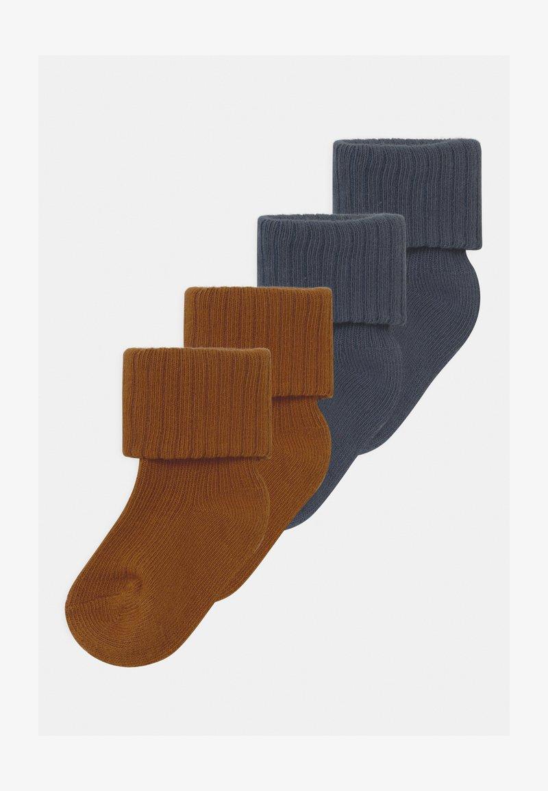 Name it - NBMRARIO 4 PACK - Socks - dark slate/monks robe