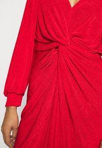 Closet - LONDON TWIST PENCIL DRESS - Jersey dress - red - 5