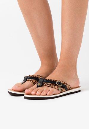 SLIDES - Sandály s odděleným palcem - brown/black
