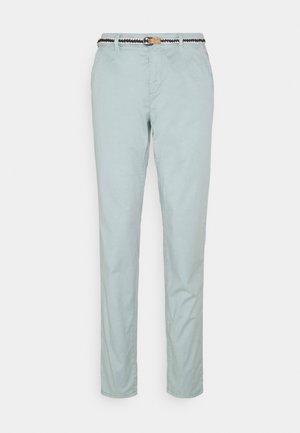 SLIM - Spodnie materiałowe - light aqua green