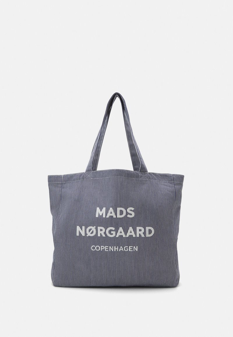Mads Nørgaard - HEAVY STRIPE ATHENE - Shopping bags - navy/white