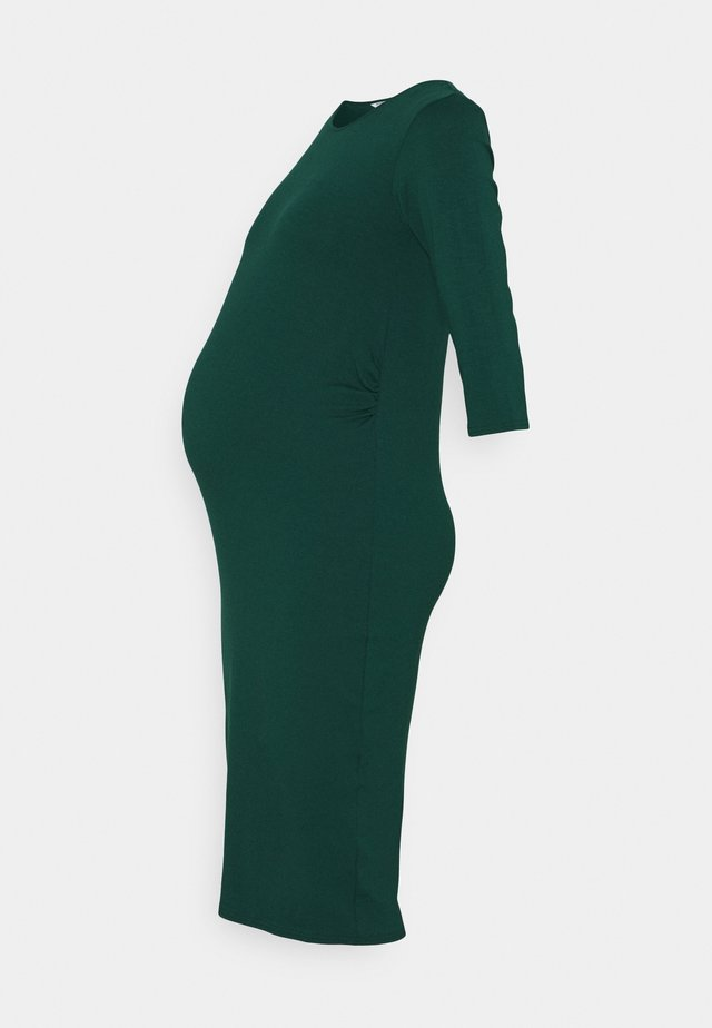 MATERNITY 3/4 SLEEVE BODYCON DRESS - Jerseyjurk - forest green