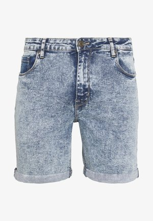 Jeansshort - light blue acid wash