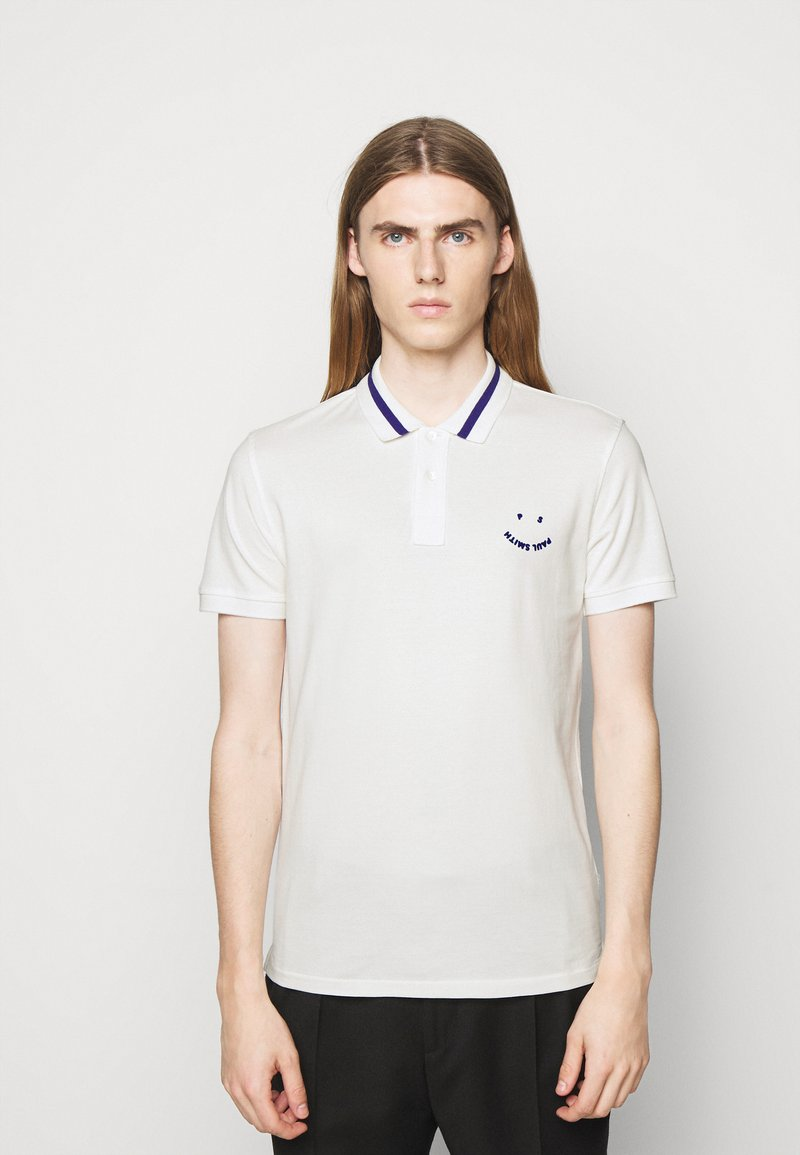 PS Paul Smith - MENS SLIMFIT FACE - Polo shirt - white