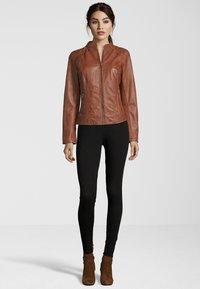 7eleven - Leather jacket - cognac - 1