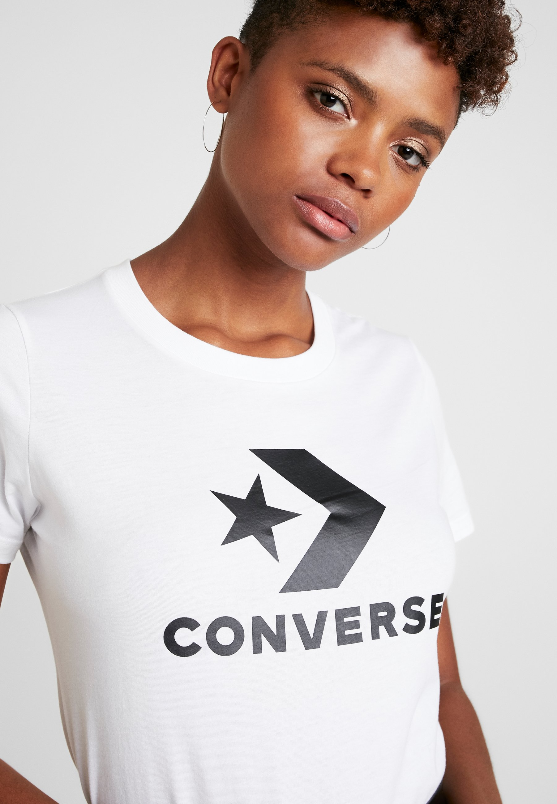 Converse Star Chevron Tee - T-shirts Med Print White/hvit