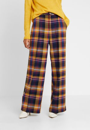 WIDE LEG - Broek - yellow