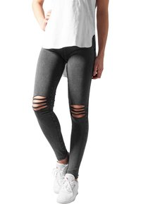 Urban Classics - CUTTED  - Leggingsit - acid black - 0