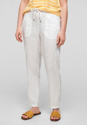 REGULAR FIT - Trousers - white
