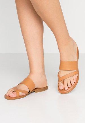 CELODIA - T-bar sandals - cognac