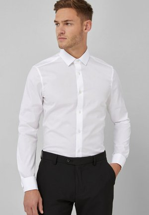 COTTON SHIRT-SLIM FIT DOUBLE CUFF - Camicia elegante - white