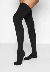 Ann Summers - HIGH SHINE BOW OVER THE KNEE - Over-the-knee socks - black - 0