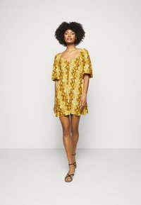 Faithfull the brand - MARTINE MINI DRESS - Denní šaty - dark yellow - 1