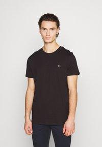 Jack & Jones - JORTIMES TEE CREW NECK 5 PACK - Basic T-shirt - dark blue/black/white/light grey/khaki - 4