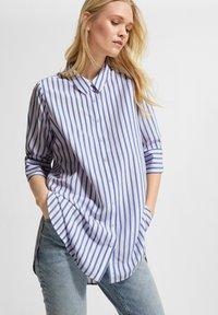 comma casual identity - Button-down blouse - powder blue stripes - 0