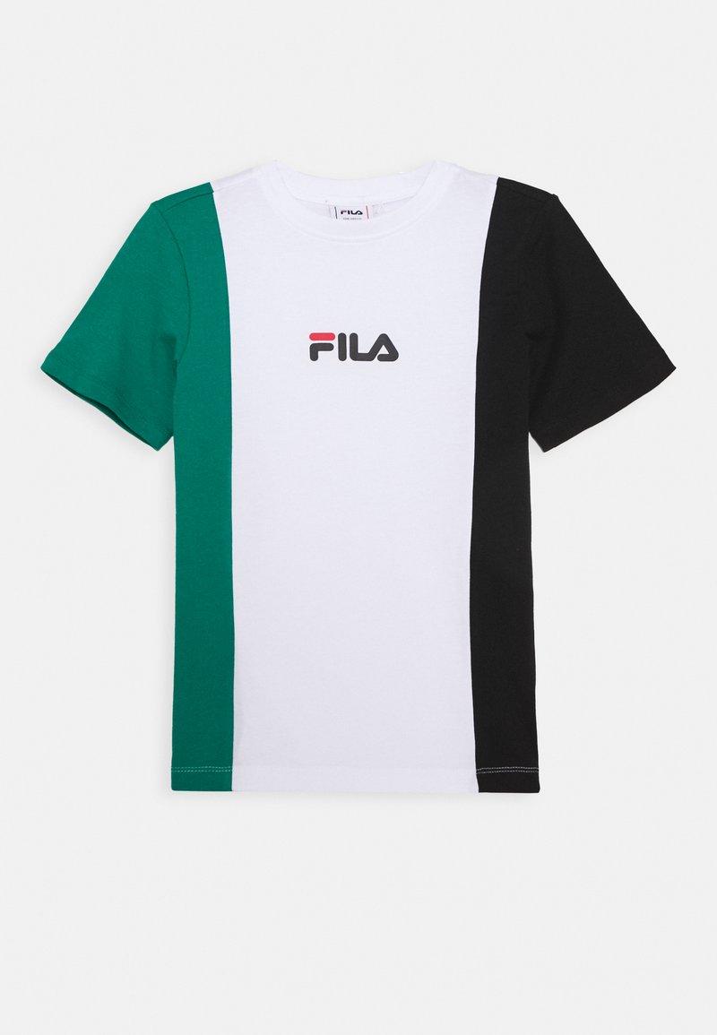 Fila - TATE - Triko spotiskem - bright white/black/shady glade