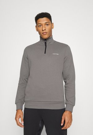 SMALL CHEST LOGO QUARTER ZIP - Sweater - pewter