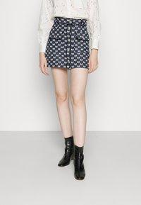 maje - JONALA - Mini skirt - nœuds marine - 0