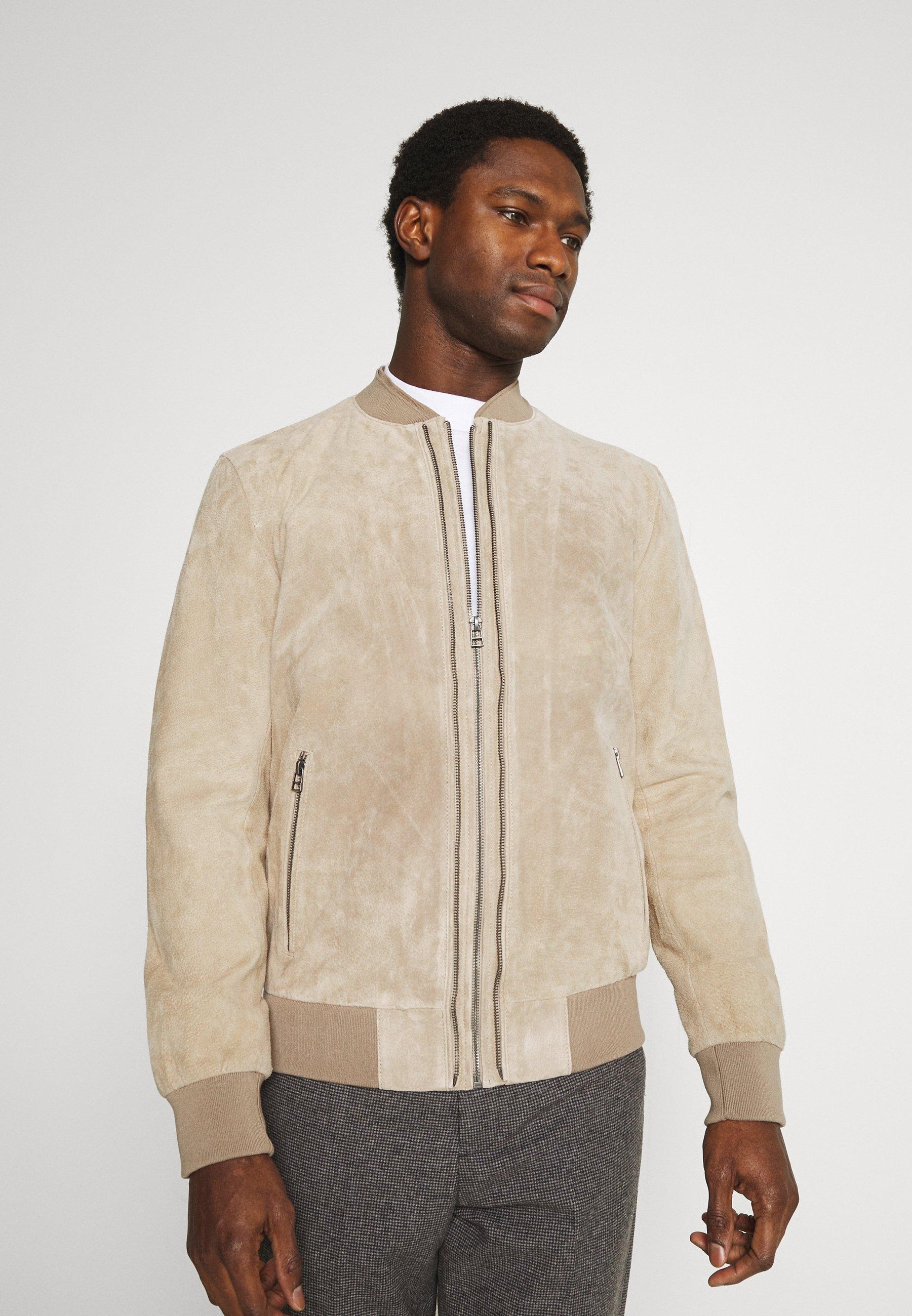 Men RIVER UP - Leather jacket