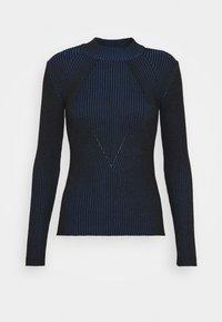PLATED LYNN MOCK - Jumper - imperial blue/dark black
