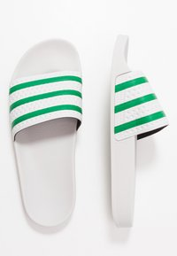 adidas Originals - ADILETTE - Pantofle - dash grey/green - 1